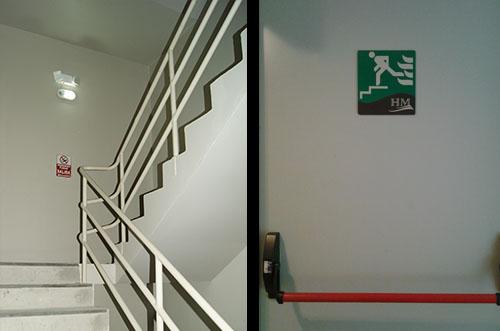 Hm international hotel for Escaleras de emergencia
